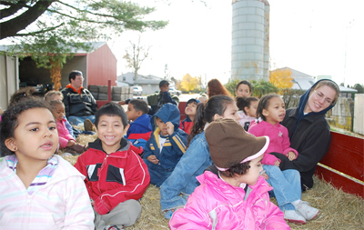 hayride at Highland Orchards