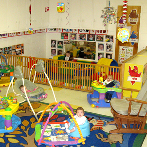 Our infant room has plenty of space to explore